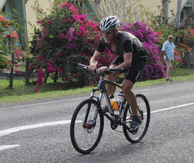 Stuart Gee finishing Stage 2 TT at Korotogo